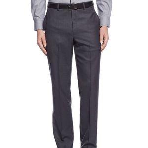 Calvin Klein Charcoal Gray Slim Fit Dress Pants